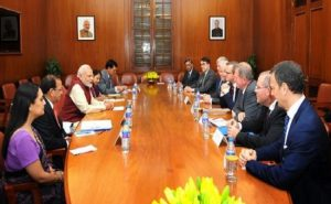 modi met swedish business delegation