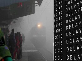 Fog delayed 75 trains