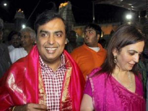 mukesh ambani at shirdi temple