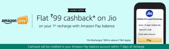 amazon jio recharge cashback offer